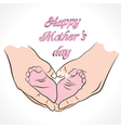 Happy mothers day greeting background vector