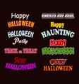 Halloween text styles vector