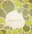 Green abstract retro background vector