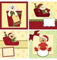 Cute collection of christmas postcards vector
