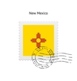 State of new mexico flag postage stamp vector