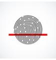 Fingerprint identification system black symbol vector