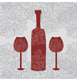 Wine floral background vector