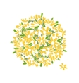 Floral yellow bouquet for your design vector