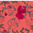 Colorful floral seamless wallpaper vector