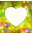 Abstract heart card in yellow eps 8 vector