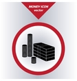 Money icon with paper banknotes and coins vector
