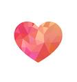 Rose triangular heart vector