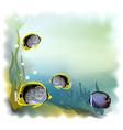 Ound underwater world vector illustration vector