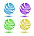 Abstract colorful 3d globe background vector