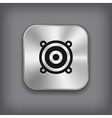 Audio speaker icon - metal app button vector