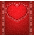 Heart red denim vector