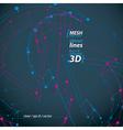 Dimensional elegant mesh loop sign technical renew vector