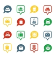 Bag icons in speech bubbles for app vector