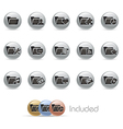 Folder icons 2 metalround series vector