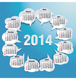 2014 bubble speech calendar vector