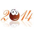Funny pumpkin 2014 vector