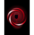 Dynamic icon for red wine vector