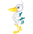 Cute little heron cartoon vector