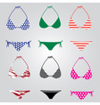 Bikini swimsuit collection eps10 vector