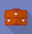 Portfolio icon modern flat style with a long vector