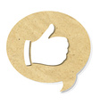 Cardboard best choice symbol vector