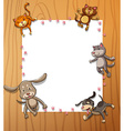Frames with animals vector