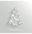 Absrtact floral christmas tree background trendy vector
