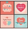 Happy valentines day card set vector
