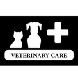 Veterinary care icon with animal silhouette vector