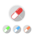 Icons of medical pills vector