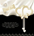 Satin fabric holiday background vector