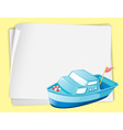 Cartoon paper space boat vector