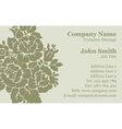 Victorian rose damask business card vector