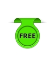 Bookmark with free message vector