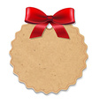 Xmas label with red bow vector