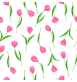 Tulips seamless pattern vector