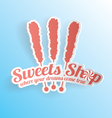 Sweets shop candy label vector
