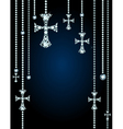 Background with gems and diamond crosses vector