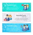 Collection of banners and ribbons with medicine vector