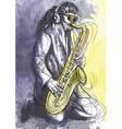 Musician - sax player vector