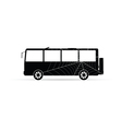 Bus icon with spider web vector