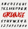 Hand drawn grunge font set vector