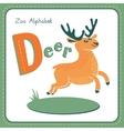 Letter d - deer vector