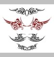 Gothic tattoo as wings shape vector