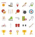 Sport icons flat design vector
