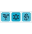 Judaism flat vector