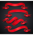 Red ribbons black vector