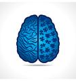 Conceptual idea - brain with puzzle pieces vector