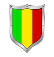 Mali flag button vector